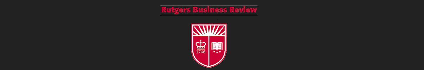 Rutgers Business Review title and shield logo